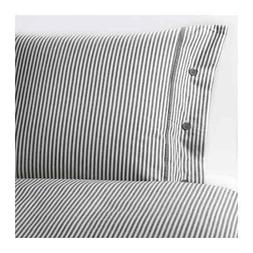 IKEA Nyponros FULL/QUEEN Duvet Comforter Cover Set Gray Stri
