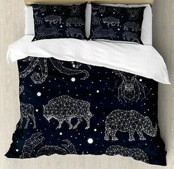 Octopus Duvet Cover Set with Pillow Shams Constellation Sign