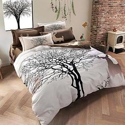TheFit Paisley Textile Bedding for Adult U1204 Brown Deer an