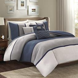 Madison Park Palisades Duvet Cover Full/Queen Size - Navy, G
