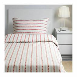 IKEA Parlhyacint Twin Duvet Cover Red and White for Single T