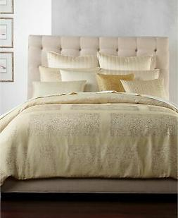 Hotel Collection Patina Queen Duvet Cover Gold Tone NEW