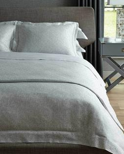 Sferra Piero Duvet Cover Full Queen Dove Cotton Sateen Linen