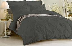 Bed Alter 5 Piece Hypoallergenic Pinch Pleated Duvet Cover S