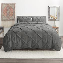 pinch pleated duvet cover set luxurious premium