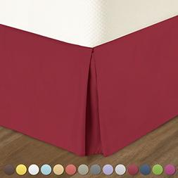 Pleated Bed-Skirt King Size – Red  Luxury Double Brushed 1