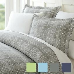 Polka Dot Patterned 3 Piece Duvet Cover Set - Hotel Collecti