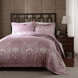 Simple&Opulence Polyester Palace Printing Rose-Red Girls Bed