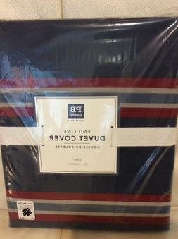 Pottery Barn Dorm Teen End Line Striped Duvet Cover Twin NWT