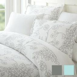 The Home Collection Premium 3 Piece Vine Patterned Duvet Cov