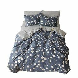 VM VOUGEMARKET Premium Cotton Duvet Cover Set Queen,Daisy Pr