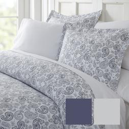 Hotel Collection Soft 3 Piece Coarse Paisley Print Duvet Cov