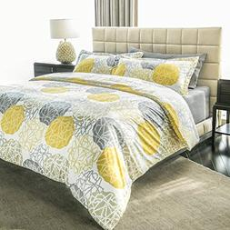 Ashler Printed Duvet Cover Set - Brushed Microfiber Luxury C