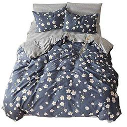 VClife Cotton Bedding Sets Botanical Floral Printed Duvet Co