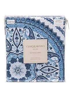 Cynthia Rowley 3pc Full Queen Cotton Duvet Cover Set Paisley