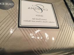 Charisma Queen Duvet Cover 2 Shams Bedskirt Tribeca Gold New