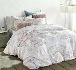 queen duvet cover and sham set painted