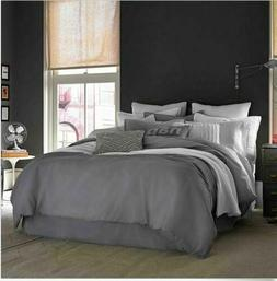 Kenneth Cole Queen/Full Duvet Cover Gunmetal Gray Stone Wash