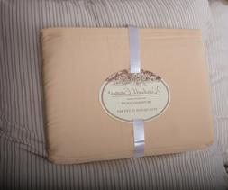 Queen Duvet Cover Set Gold 500 thread count Cotton Wardwell