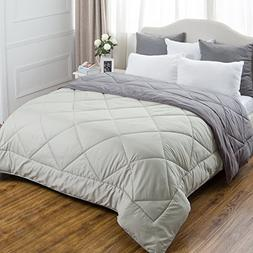 Bedsure Full/Queen Reversible Comforter Duvet Insert with Co