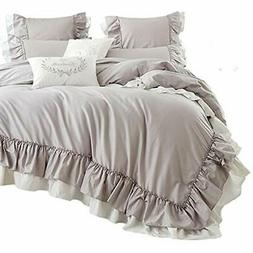 Queen's Duvet Cover Sets House Cotton Taupe Bedding King Siz