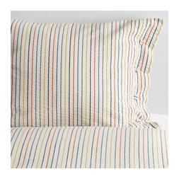 Ikea Rajgras Queen Duvet Cover and Pillowcases with Thin Mul
