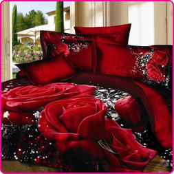 Reactive Printed 3D Bed Set 3D Bedding Set Linen <font><b>Qu