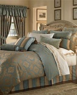 reardan ivory gold king duvet cover new