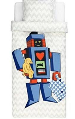 IKEA Reversible Duvet Cover and Pillowcase, Big Robot, Twin