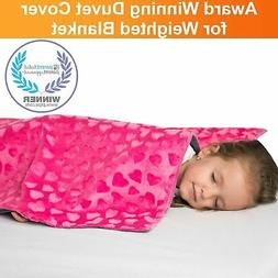 Reversible Kids Duvet Cover for Weighted Blanket Cotton Bamb