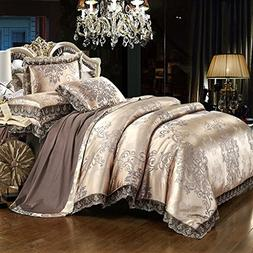 Chesterch Prevoster Satin Embroidery Duvet Cover Set Luxury