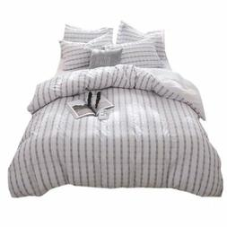 Merryfeel Seersucker 100% Cotton Yarn Dyed Duvet Cover Set -