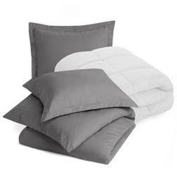 Set of Luxury Goose Down Alternative Comforter and Ultra Sof