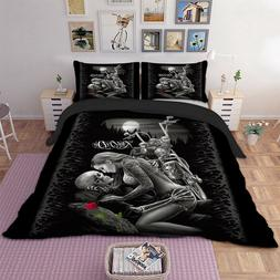 Ride Skull Duvet Cover Quilt Cover Set Twin Queen King Size