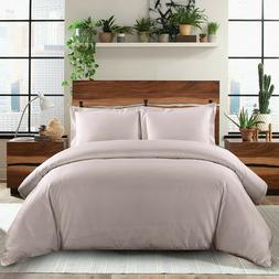 Silky Luxury Soft Duvet Cover Set 100% Cotton 600 Thread Cou