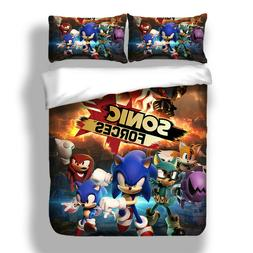 Sonic The Hedgehog Bedding Set Duvet Cover Twin Full Queen K