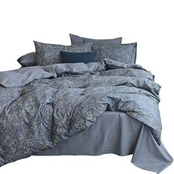 VM VOUGEMARKET Stars Duvet Cover Sets Queen Luxury Gray Bedd