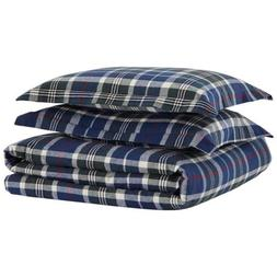 Stone & Beam Rustic Plaid Flannel Yarn-Dyed Duvet Set, King,