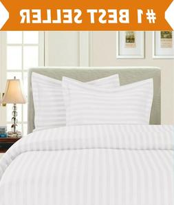 STRIPE DUVET COVER AND SHAMS 1500 Series 3 Piece Duvet Set -