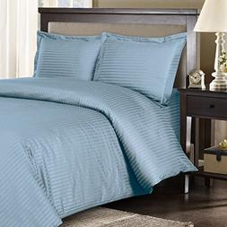 Royal Hotel's Striped Blue 300-Thread-Count 3pc California-K