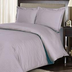Royal Hotel's Striped Lilac 300-Thread-Count 3pc Full / Quee