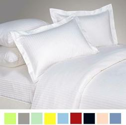 Bed Alter Striped Pillow Shams Set Of 2 Hypoallergenic 100%