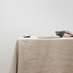 "Merryfeel Pre-washed Linen Table Cloth - Natural 60""x104"""