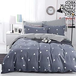 NANKO Queen Duvet Cover Set 3 Pieces, 90x90 Soft Cool Lightw
