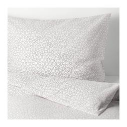 Ikea Tradaster Full Queen Duvet Cover and Pillowcases Gray 0