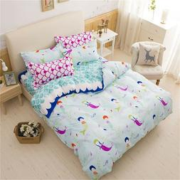 Twin Bedding Mermaid Sets Kids Teen Girl Toddler Duvet Cover