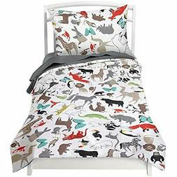 Twin Duvet Cover Sets Animal With 1 Pillowcase For Kids Bedd