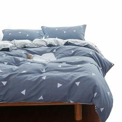 Uozzi Bedding Twin Kids Summer Duvet Cover Set Blue Gray & T