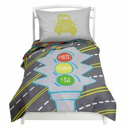 Twin Transportation Duvet Cover Set with 1 Pillowcase for Ki