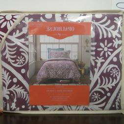OPALHOUSE Twin/ Twin XL Purple Reversible Medallion Duvet Co